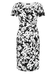 Mono Regatta Print Dress