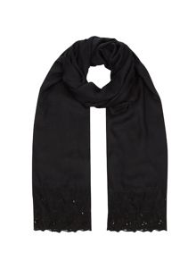 Jacques Vert Lace Cluster Stone Scarf