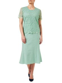 Eastex Mint Wash Lace Top