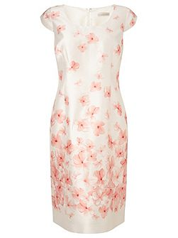 Blossom Border Placement Dress