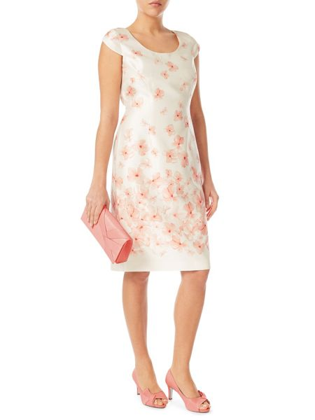 Jacques Vert Blossom Border Placement Dress