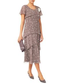 Jacques Vert Spot Hanky Hem Dress