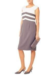 Jacques Vert Layers Boddice Crepe Dress