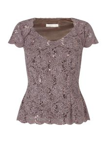 Jersey Lace Top