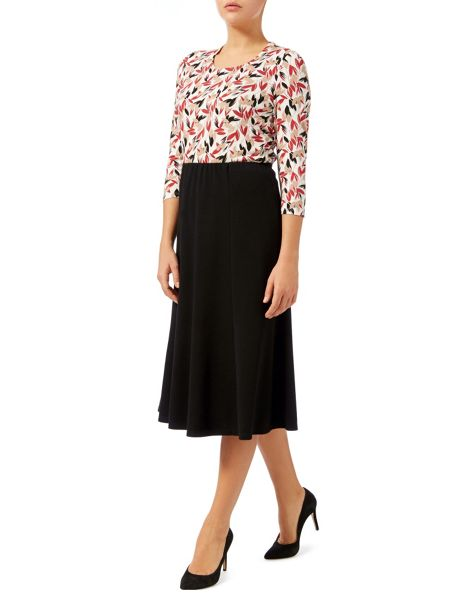 Eastex Petite Pull On Ponte Skirt