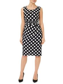 Precis Petite Polka Dot Jersey Dress