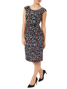 Precis Petite Leaf Print Jersey Dress