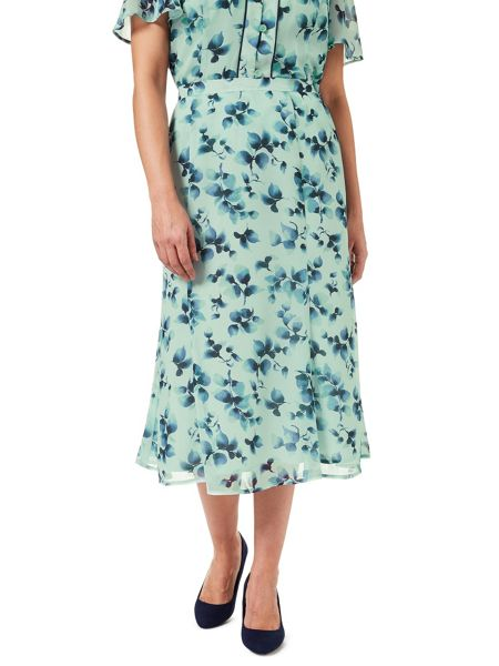 Eastex Watercolour Sprig Skirt-Short