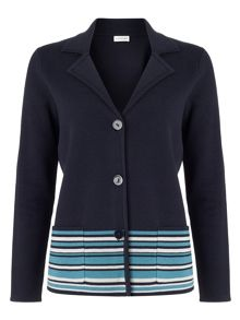 Eastex Milano Stripe Hem Jacket