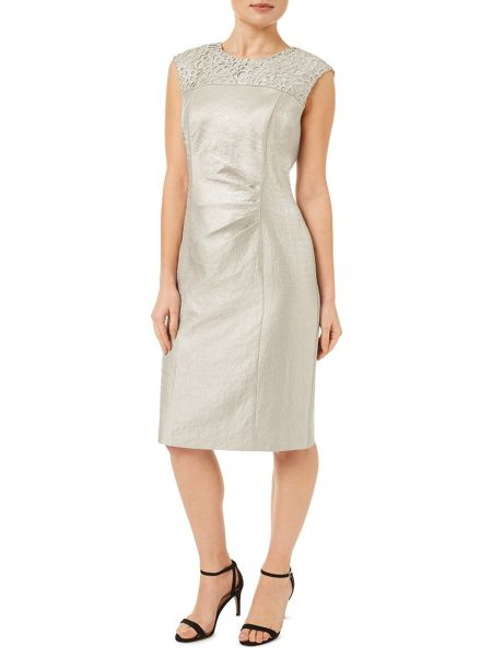 Precis petite oyster lace shimmer dress neutral house of fraser