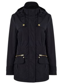 Dash Navy Wadded Parker Jacket