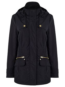 Navy Wadded Parker Jacket