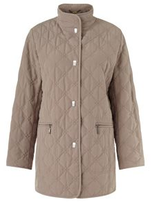 Diamond Leaf Quited Raincoat