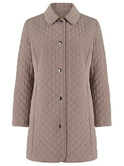 Longline Quilted Raincoat