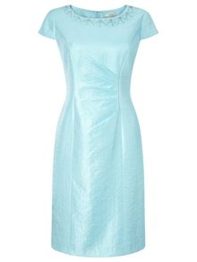 Precis Petite Aqua Embellished Shimmer Dress