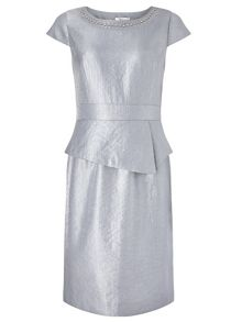 Precis Petite Grey Shimmer Dress