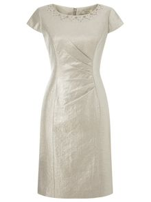 Precis Petite Oyster Embellish Shimmer Dress
