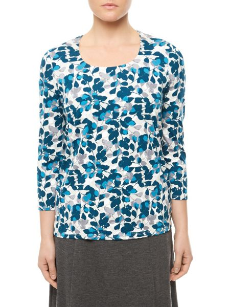 Eastex Silhouette Leaf Jersey Top