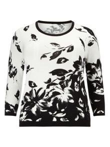 Monochrome Printed Jumper