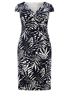 Windsmoor Palm Leaf Printed Dress