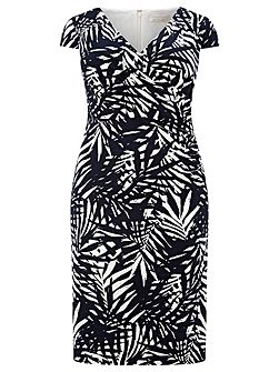 Palm Leaf Printed Dress