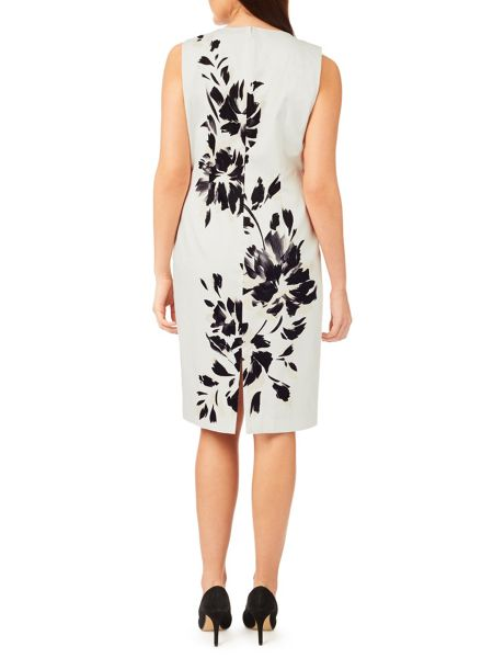 Windsmoor Mono Floral Placement Dress