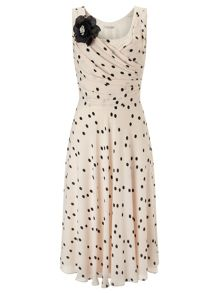 Jacques Vert Spot Fit And Flare Dress