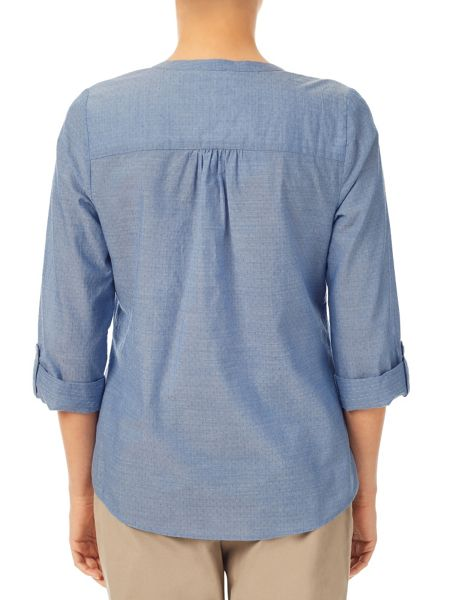 Dash Chambray Print Blouse