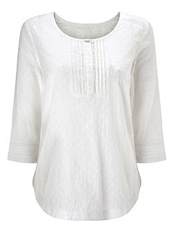 Broidery White Blouse