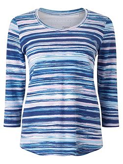 Painted Stripe Printed Top