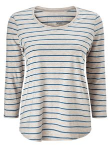 Dash Cotton Modal Stripe Tee