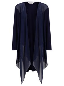 Windsmoor Chiffon And Jersey Mix Drape Cardigan