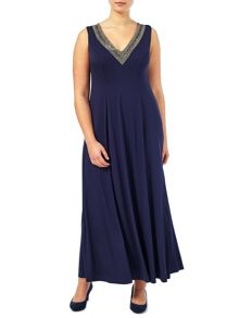 Windsmoor V Neck Beaded Dress