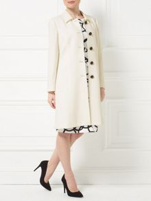 Precis Petite Jeff Banks Ivory Dress Coat
