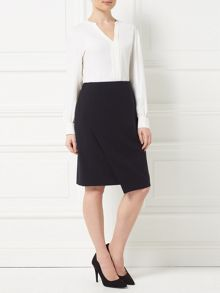 Precis Petite Jeff Banks Black Wrap Skirt