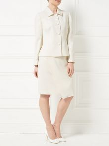 Precis Petite Jeff Banks Ivory Wrap Skirt