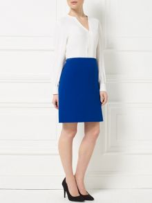 Precis Petite Jeff Banks Vent Detail Skirt