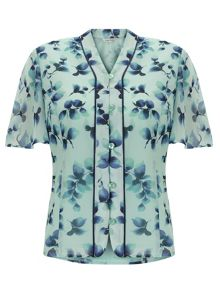 Eastex Watercolour Sprig Blouse