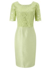 Jacques Vert Embellished Lace Layer Dress