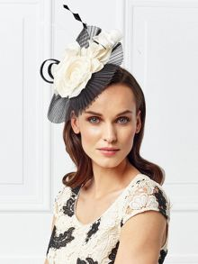 Jacques Vert Pleated Mesh Flower Fascinator