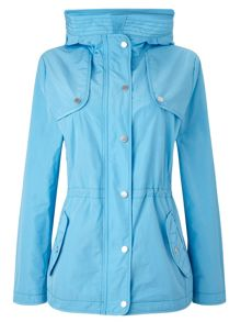 Dash Sky Blue Rain Jacket With Hood