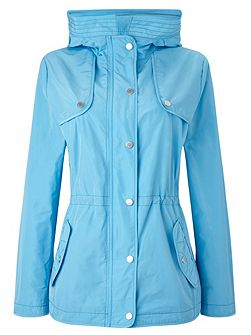 Sky Blue Rain Jacket With Hood
