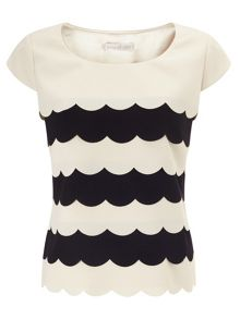 Jacques Vert Scallop Layer Top