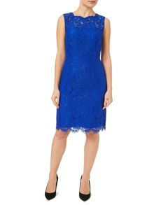 Blue Lace Sleeveless Dress