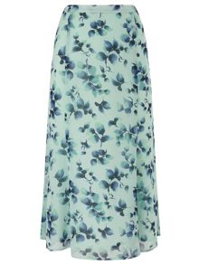 Eastex Watercolour Sprig Skirt