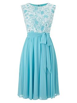 Lace Top Soft Prom Dress