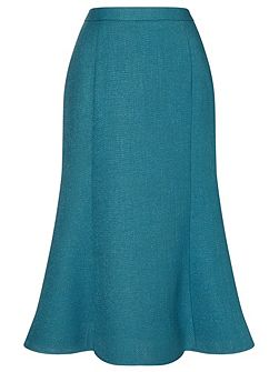 Textured Fit & Flare Skirt