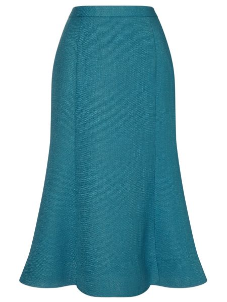 Eastex Textured Fit & Flare Skirt