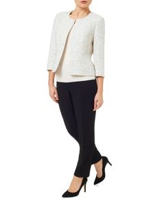 Precis Petite Tweed Edge To Edge Jacket
