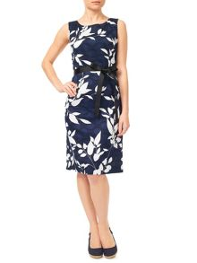Precis Petite Navy Clipse Spot Dress